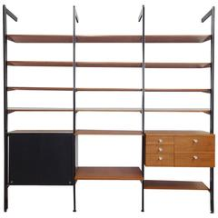 George Nelson Herman Miller Three Bay CSS Shelf Wall Unit