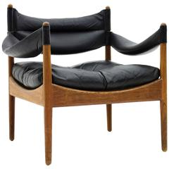 Rosewood and Leather Easy Chair by Kristian Vedel, Denmark, 1963