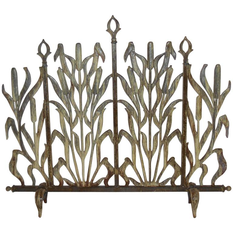 Cat Tail Fireplace Screen For Sale At 1stdibs