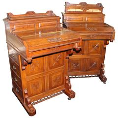 Pair of Late 19th Century 'Jack-in-the-box' Davenports