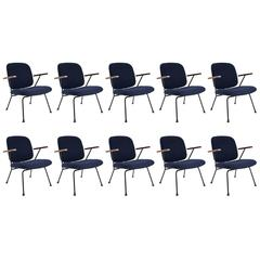 Stock of 10+Dutch 1950s Original W.H. Gispen Easy Chairs Industrial Design Kembo