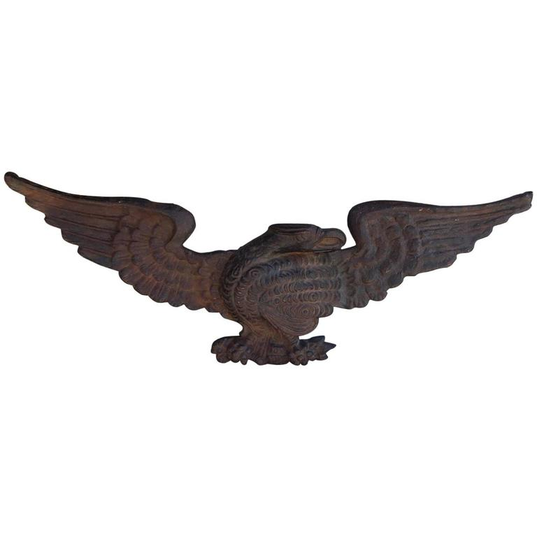 American Cast Iron Patriotic Eagle Mount Circa 1840 For