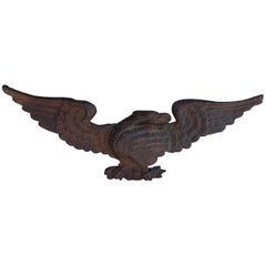 American Cast Iron Patriotic Eagle Mount, Circa 1840