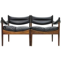 Two-Seat Rosewood Sofa by Kristian Solmer Vedel, Denmark, 1963