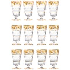 "12 Val St. Lambert ""Pampre D'Or"" Oversized Tumblers"