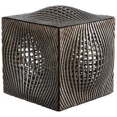 Colleen Carlson, Metallic Cube Sculpture, USA, 2016