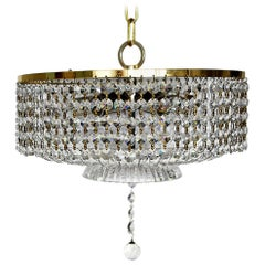 Wonderful German Vintage Ceiling Light Chandelier by Palwa, 1960s