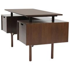 Milo Baughman Executive Desk with Floating Top, Glenn of California, 1950s