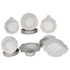 Flight Barr & Barr Worcester Dessert Service  (25 pieces) circa 1820