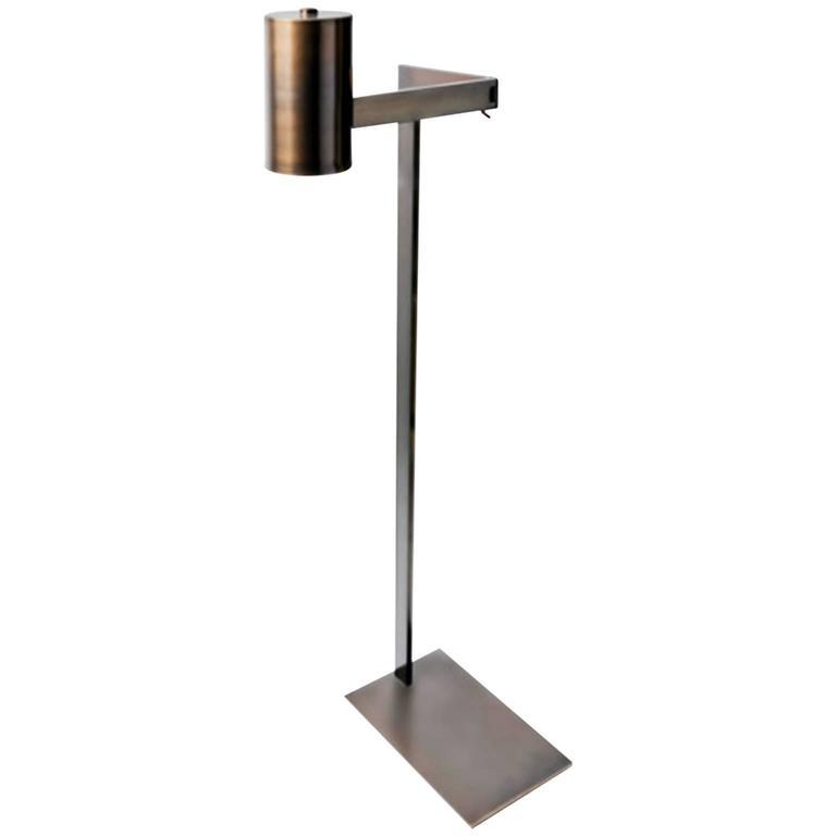 Swing Antique Dark Bronze Floor Lamp