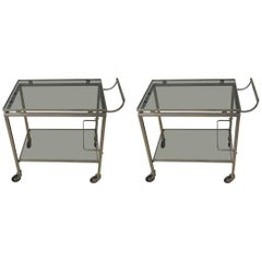 Pair of Guy Lefevre for Maison Jansen Bar Cart