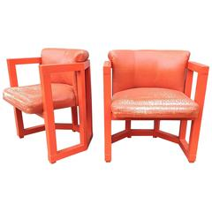 Modernist Chairs in Persimmon