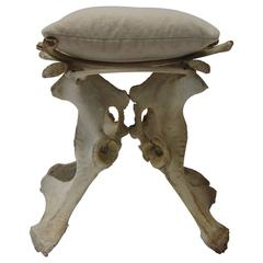 Bone Stool with Pillow