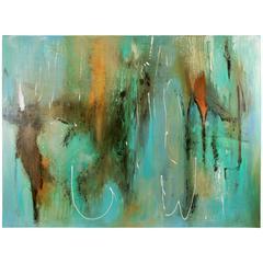 Large Acquamarine Painting
