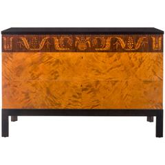 Carl Malmsten, Swedish Grace Period Birch and Marquetry Commode