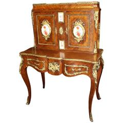 French Bonheur Du Jour Kingwood with Ormolu Mounts and Plaques, circa 1890