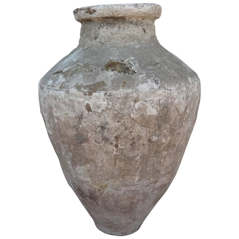 18th Century Terracotta Oil Jar Great Patina