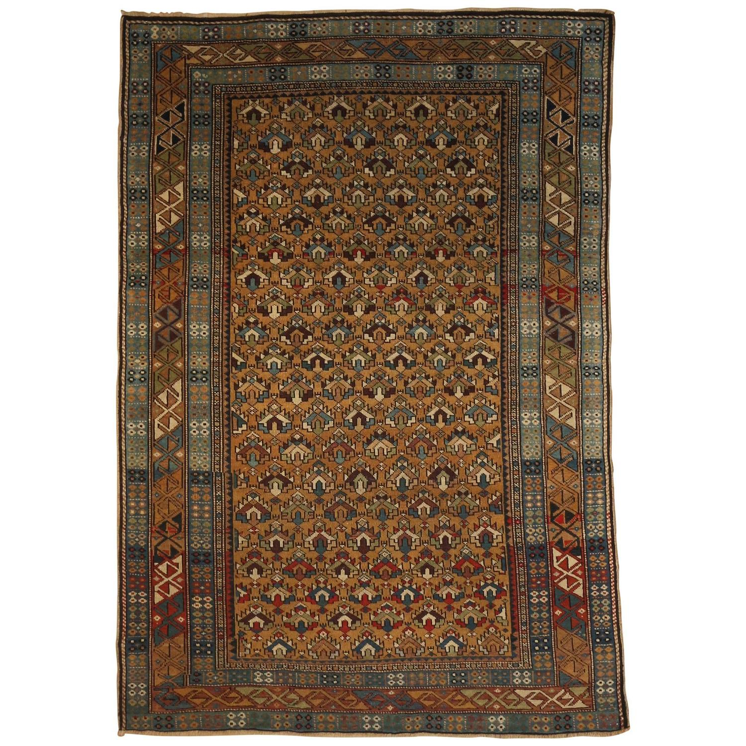 Armenian Antique Rugs: Fine Antique Square Armenian Shirvan For Sale At 1stdibs