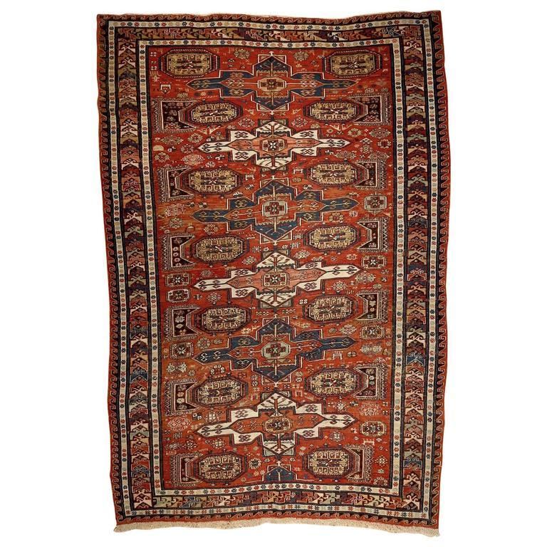 Armenian Antique Rugs: Classic Antique Armenian Soumak At 1stdibs