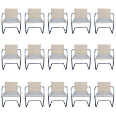 15 Brno Chairs by Ludwig Mies van der Rohe for Knoll International, Signed