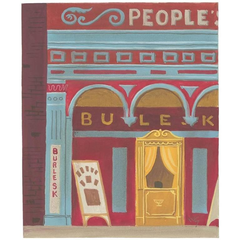 "Witold Gordon Gouache ""Burlesk Theater"""