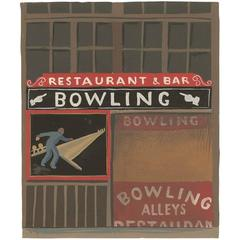 Witold Gordon Gouache, Bowling Alley, Vanity Fair
