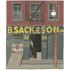 "Witold Gordon Gouache ""B. Sack & Son - Vanity Fair"""
