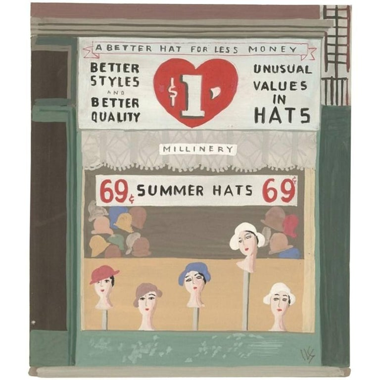 Witold Gordon Gouache, Summer Hats, Vanity Fair For Sale