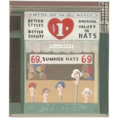 Witold Gordon Gouache, Summer Hats, Vanity Fair