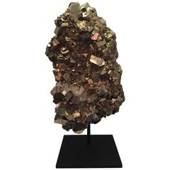 Pyrite Mineral Specimen, Custom Mounted From Spain