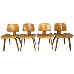 Charles Eames DCW Chairs by Evans Products Company for Herman Miller