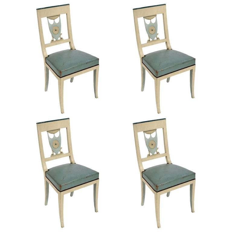 Swedish Neoclassical Side Chairs Set of Four