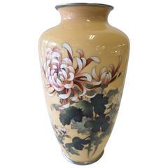 Japanese Cloisonne Enamel Vase by Ando Jubei, Meiji Period