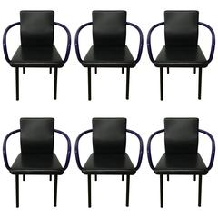 Set of Six Mandarin Chairs Designed by Ettore Sottsass for Knoll, 1986