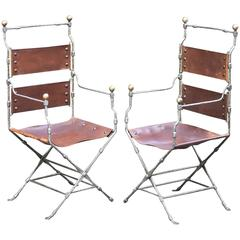 Maison Jansen Folding Chairs, France, 1968