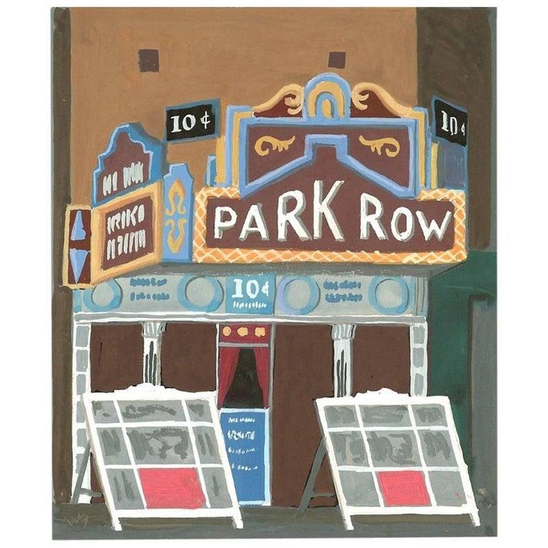 "Witold Gordon Gouache ""Park Row Theater - Vanity Fair"" For Sale"