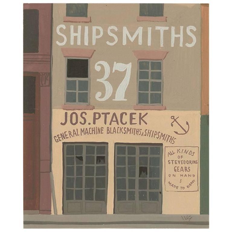 """Witold Gordon Gouache """"Shipsmiths  - Vanity Fair"""""""