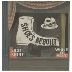 Witold Gordon Gouache, Shoes Rebuilt, Vanity Fair