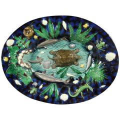 Palissy Ware Platter by George Pull