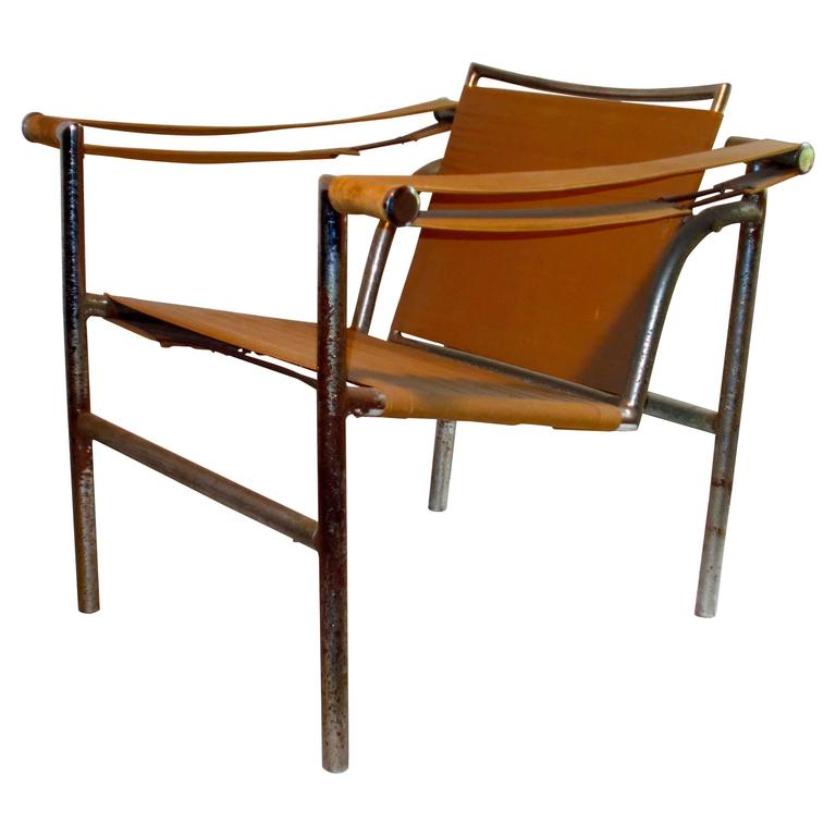 original thonet le corbusier lc1 39 basculant 39 armchair for sale at 1stdibs. Black Bedroom Furniture Sets. Home Design Ideas
