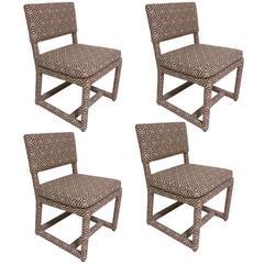 Rare Set of Four Milo Baughman Dining Chairs