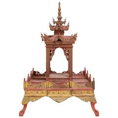 Antique Thai Early 20th Century Temple/Shrine with Pagoda