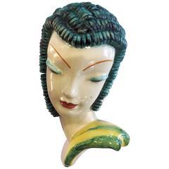 Art Deco Goldscheider Wall Mask