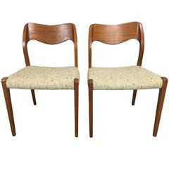 Pair of J.L. Moller Teak Dining Chairs