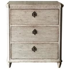 Swedish Gustavian Chest of Drawers with Reeded Front
