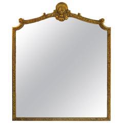 Large Italian Louis XV Style Giltwood Mirror, circa 1800