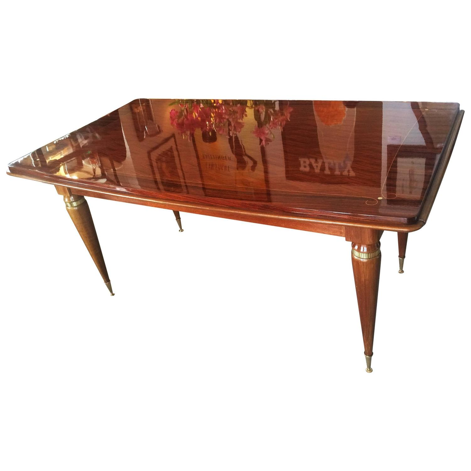 Art deco french extension dining table at 1stdibs - Art deco dining room table ...