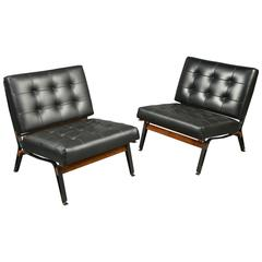 Pair of Chairs by Ico Parisi, Cassina Production Italy, circa 1958
