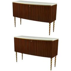Pair of Credenzas by Paolo Buffa, Italy, 1940s