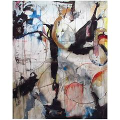 """""""Pentimento,"""" 72 x56 Inch Mixed-Media on Canvas by Kathi Robinson Frank"""